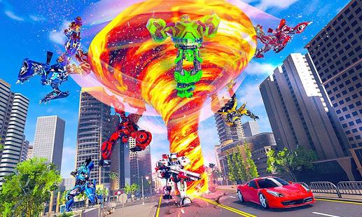 Tornado Robot Car Transform Hurricane Hero Fight PC