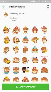 DinDong WhatsApp sticker
