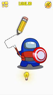 Draw Puzzle - Draw one part الحاسوب