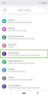 Pakiet ułatwień dostępu na Androida PC