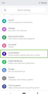 Outils d'accessibilité Android PC