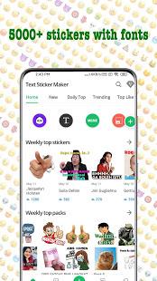 TextSticker - sticker for WhatsApp - WAStickerApps para PC