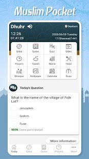 Muslim Pocket - Prayer Times, Azan, Quran & Qibla电脑版
