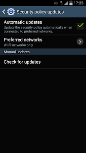 Samsung Security Policy Update ПК
