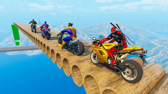 Superhero Bike Stunt GT Racing - Mega Ramp Games الحاسوب