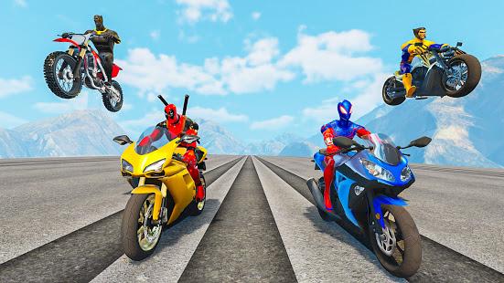Superhero Bike Stunt GT Racing - Mega Ramp Games para PC