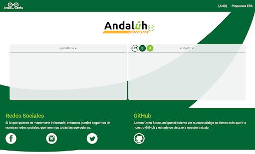 Trâccrittôh Andalûh - Transcriptor Andaluz PC