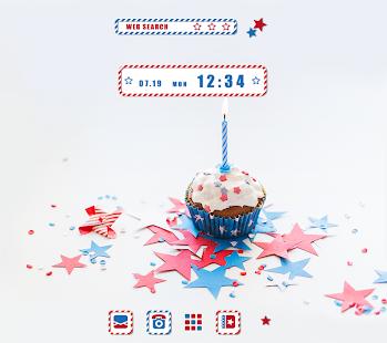 かわいい壁紙アイコン ハッピースター・カップケーキ 無料 PC版