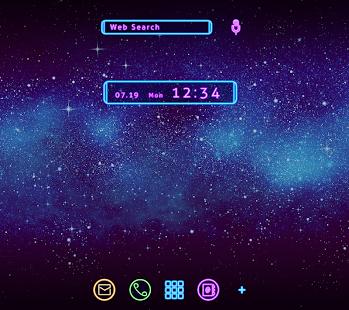 スタイリッシュ壁紙アイコン Neon Galaxy 無料 PC版