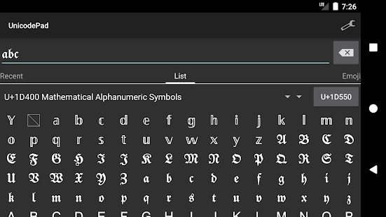 Unicode Pad PC