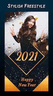 New year photo frame 2021, new year photo editor